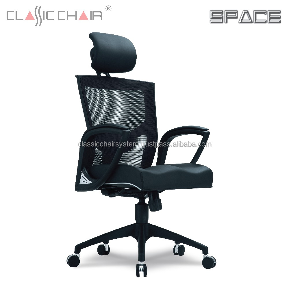 Executive Office Chair with Lumbar Support, Mesh Office Chair Malaysia