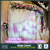 Wholesale price curved pipe and drape pipe and drape for weddings with high quality