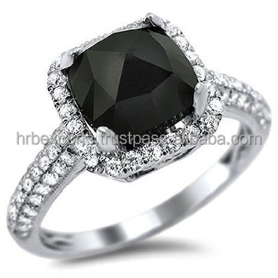 Rare Big sizes Black Diamond ring14k White/yellow Gold -Diamond Engagement ring, Cheapest black diamond ring India