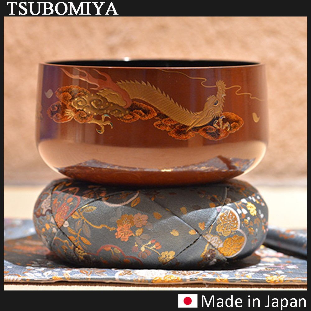 Dragon Makie Lacquer Orin Pure Gold Makie Made in Japan
