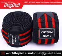 Custom Power Weight Lifting Knee Wraps / Gym Training Knee Wraps / Fitness Knee Wraps With 6 Color Range Wraps