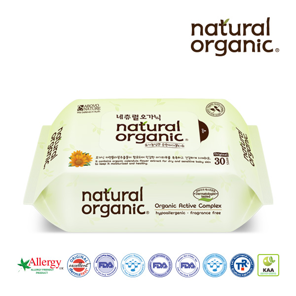 natural organic baby wipes original portable type 30tissues