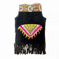 HANDICRAFT INDIAN TRADITIONAL CHINESE STYLE LEATHER VEST JACKET