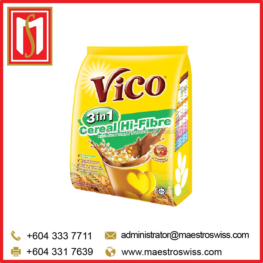 Vico Instant 3 in 1 Cereal Hi-Fibre Chocolate Malt Drink