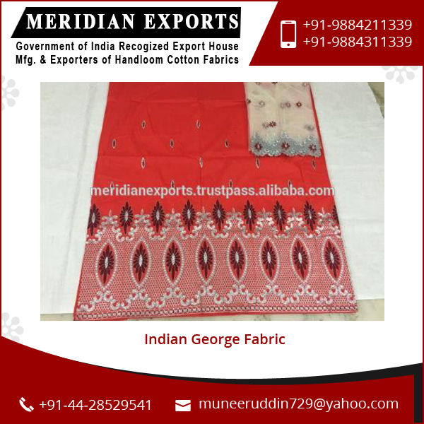Customize Size Quality Tested Material Made Indian George Fabric Price