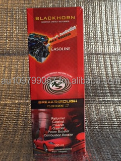 Blackhorn - Gasoline is a combustion/power booster for gasoline fueled cars/trucks/equipments and for saving fuel <35%