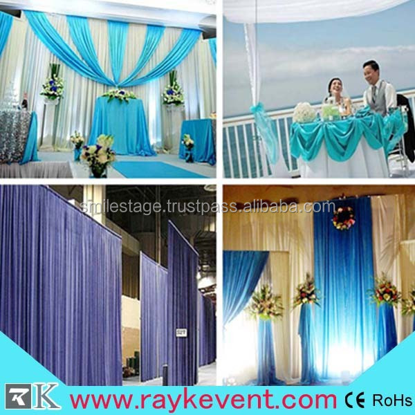 portable ceiling decoration backdrop used pipe and drape kits