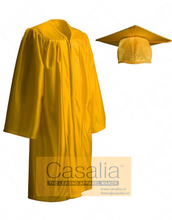 Wholesale Best quality Women Yellow Graduation Gowns and Caps For School [DMTV]