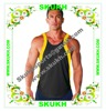 wholesale bodybuilding deep cut gym tank top with customer's logo for man and women