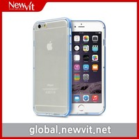 Newvit Back cover 8 for iPhone 6 / Clear TPU backside case + Glossy PC side bumper