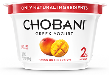 Exotic Chobani Mango Yogurt.