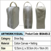 Cotton canvas shoe bag