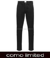 Black Garment Dyed Chino Pant for Man