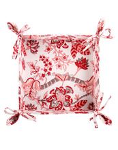 Indian Hand Block Printed Leaves Cotton Floral Bread Basket