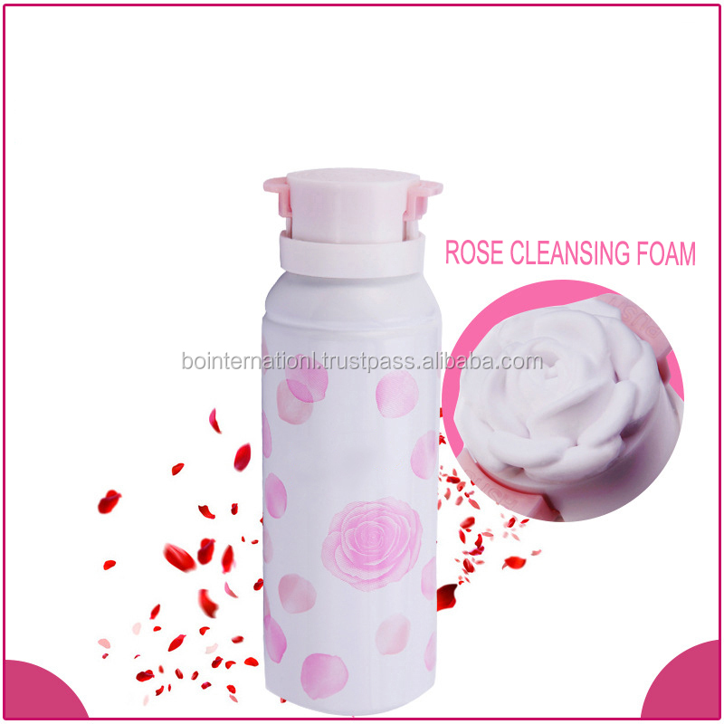 Rose nioushing & whitening facial cleanser