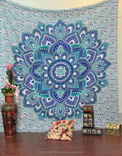 indian printed tapestry wholesale mandala star cotton hanging tapestry