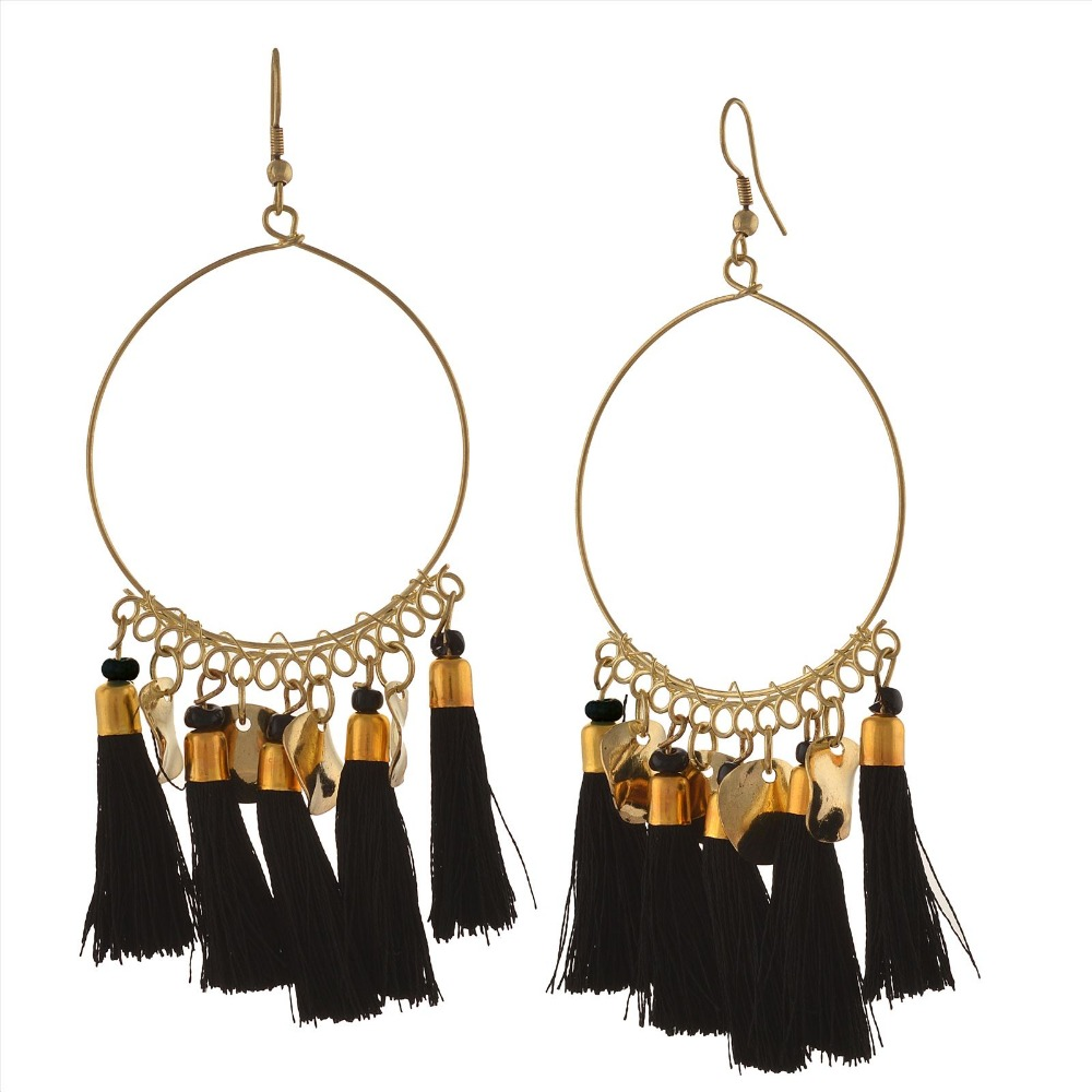 Zephyrr Fashion Lightweight Hook Dangler Hanging Earrings with Tassels Beads