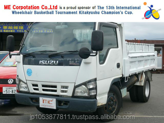 japanese used isuzu elf dump truck with Good Condition ELF 2005 made in Japan