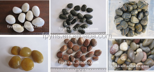 completely beauty dark black polishing pebble stone