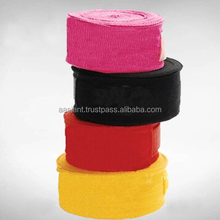 Red Hand Wrap Hand Stretch Wrap Film Professional Boxing Handwrap bandge