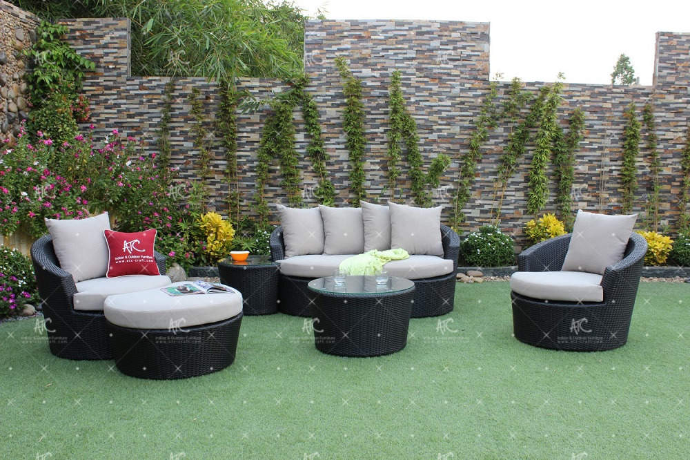 Classy Design Resin Rattan Sofa Set For Outdoor Garden Use or Living Room