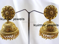Single Jhumki ethnic earrings