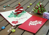 3D pop up greeting card with Pine/ christmas greeting card