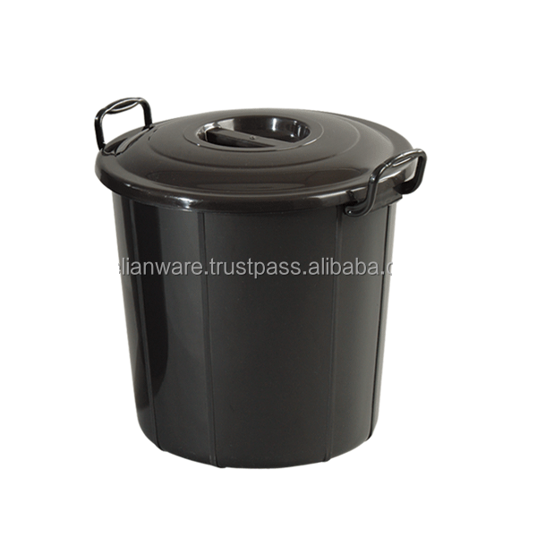 8 Gallon Pail With Cover (Black)
