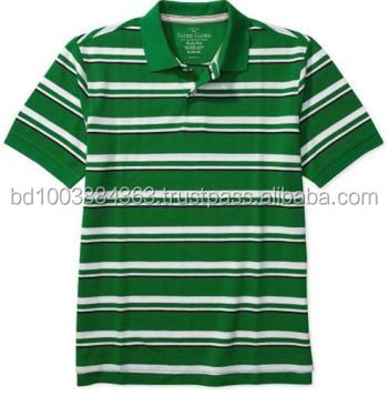 Mens Stripe Polo Shirt