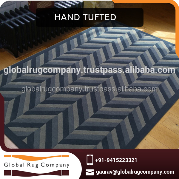 Hand Tufted Wool Rug or Carpet for Hotel Rooms in Customized Sizes