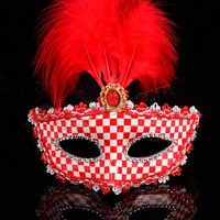 red Plastic Fashion Party Mask