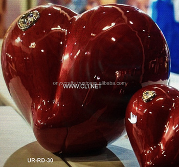Red Heart Shape Sand Biodegradable Urn in Cheap Price