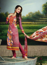 Bollywood semi stitched indian fashion straight salwar kameez set suits - Low price salwar suits - Gul ahmed salwar kameez