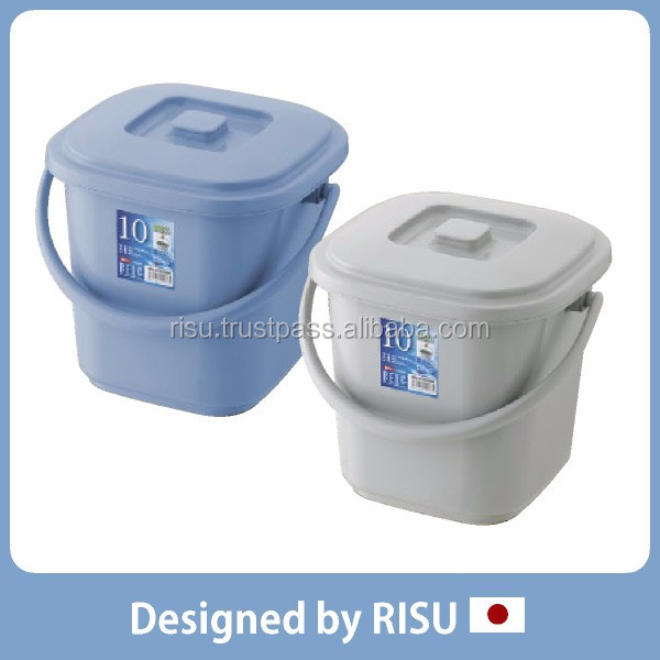 Long-lasting and Various tool case plastic bucket with handle for home & commercial use with various sizes