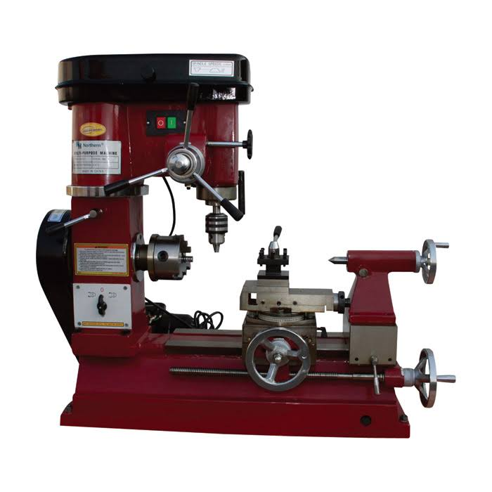 Industrial Lathe Milling and Drilling Machine Combo - 1/2 HP