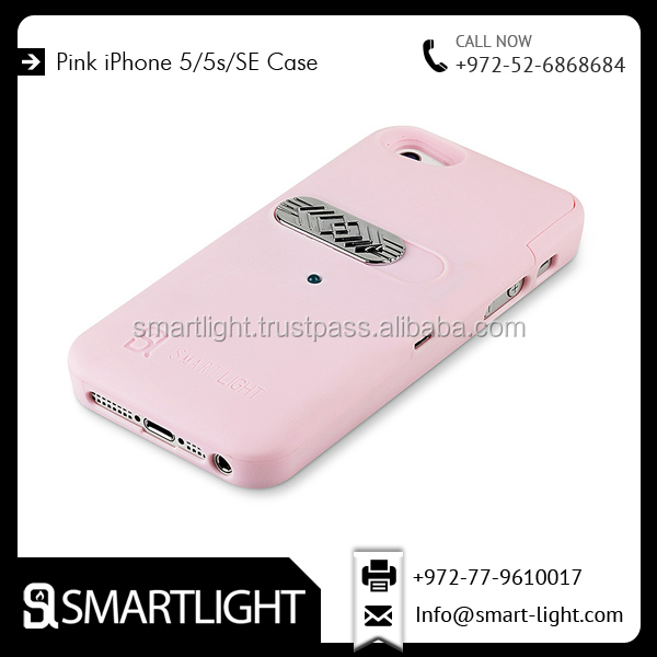 Fashionable Design Attractive Waterproof Pink Colour Cigarette Case for IPhone 5/5s