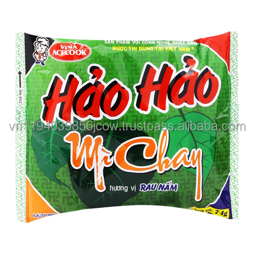 WHOLESALE HAO HAO VEGETERIAN INSTANT NOODLES MUSHROOM AND VEGETABLES FLAVOR 75 GR