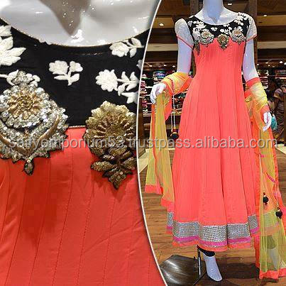 Black & Pale Pink Color Cap Sleeve Anarkali Long Frocks Golden Color Aari Zardosi Fully Loaded Work For Arab Girls Or European