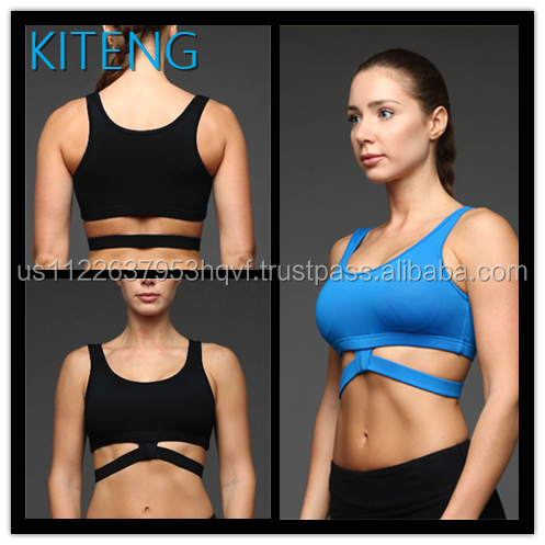 Kiteng 2016 new design sexy hot girl yoga bra with strap on the back Office In United State (USA)