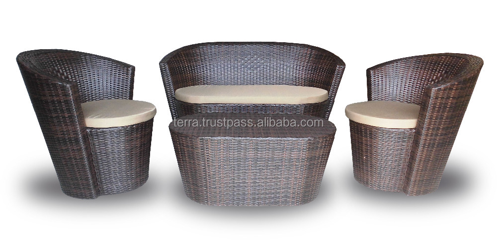 Rattan Synthetic Indoor Sofa Set