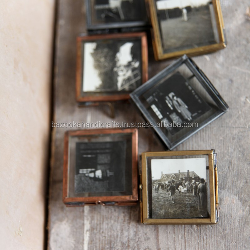 Photo Frame, Decorative Small Photo Frame, Glass Transparent Clear Glass Picture Frame