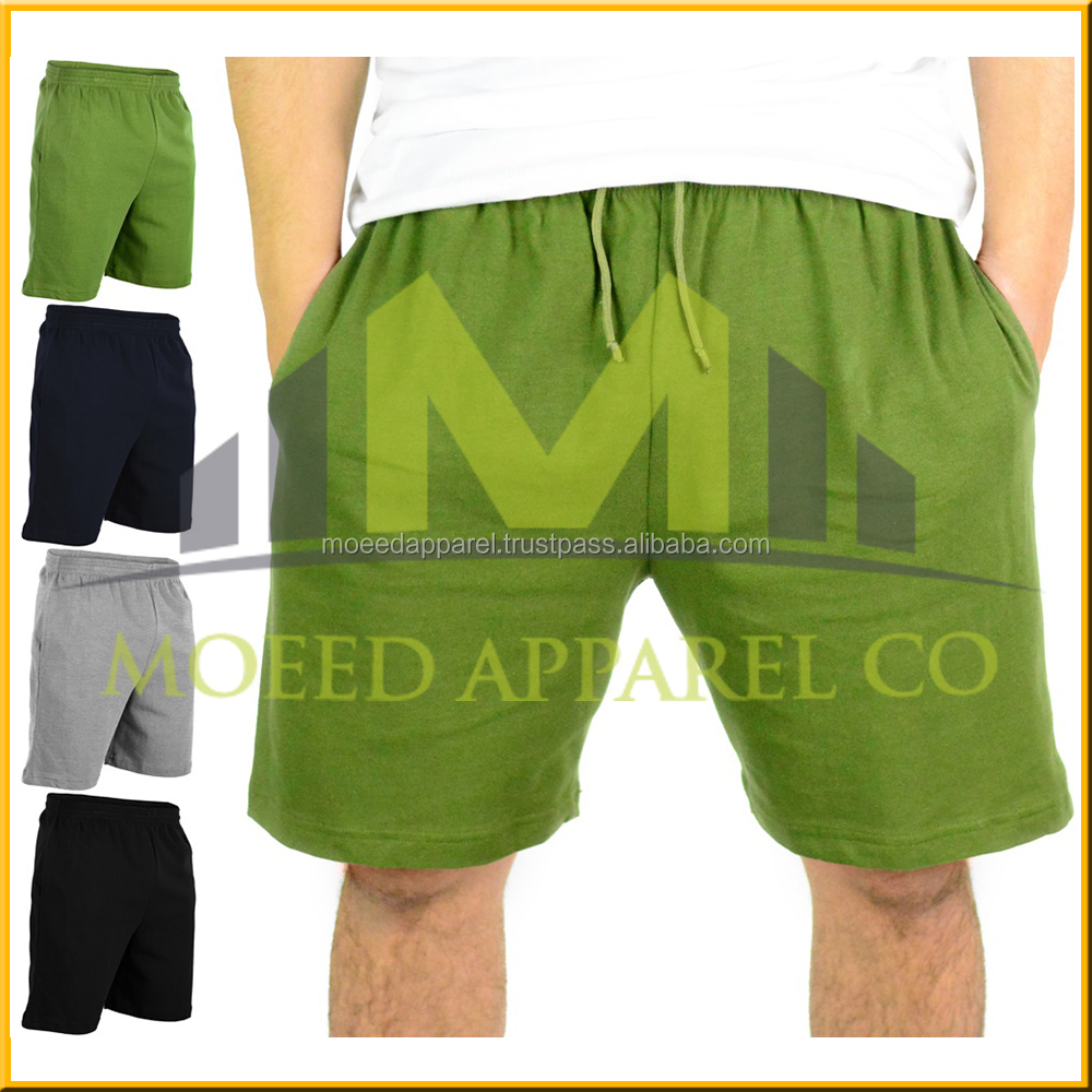 Hot sell latest bright color men summer sweat shorts cotton jersey shorts men
