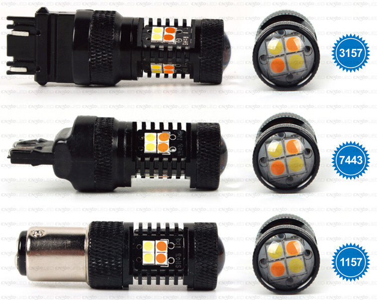 2015 New product 3030SMD Dual color LED switchback led bulbs for Daytime running light and turning light