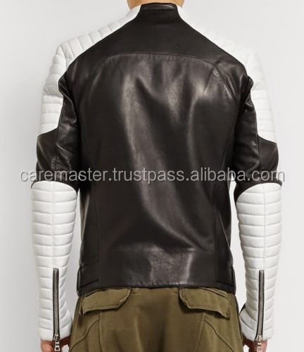 LEATHER MOTORBIKE RACING JACKET