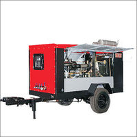 Diesel driven Trolley mounted Screw Air Compressors