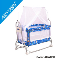 Automatic Swinging Baby Cradle with lowest noise, Electric Metal Baby Cradle