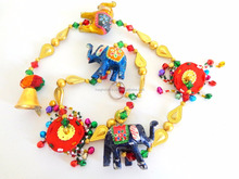 Elephant theme wall hanging/Wholesale beaded wall hanging/door hanging/Diwali special home decor items/indoor home decor