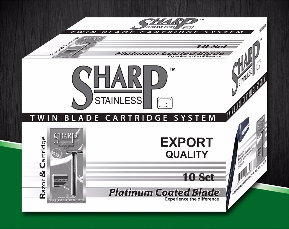SHARP TWIN BLADE SYSTEM RAZOR & CARTRIDGE.