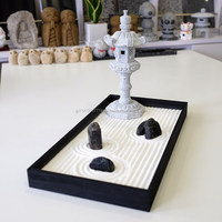 Free customise and Traditional Style garden landscape design Miniature Zen Garden with real stone made in Japan