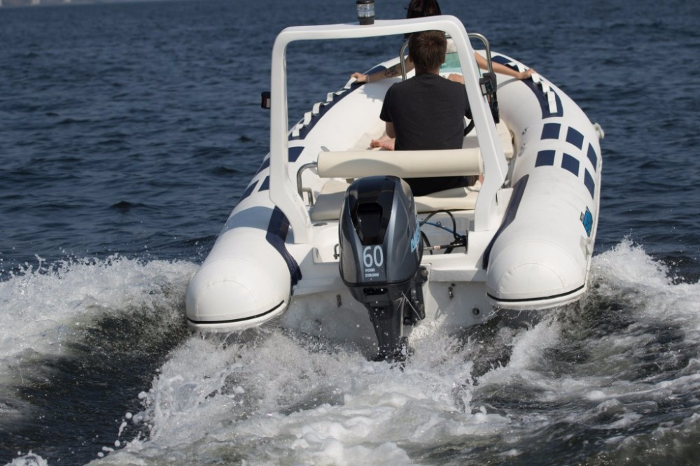 Rib Boat 500 Ocean Drive Luxe Stormline PVC fiberglass material console rigid inflatable outboard